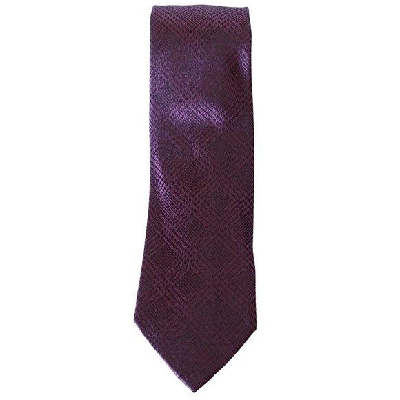 MICHAEL KORS Red Kai Check Houndstooth Silk Tie